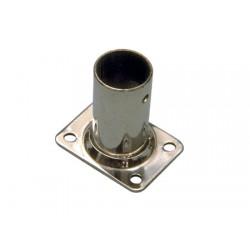 Rostfritt stål fyrkantig ledstång 90 ° 22mm
