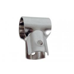 Rostfritt rostfritt stål öppen T ledstångskontakt 25 mm