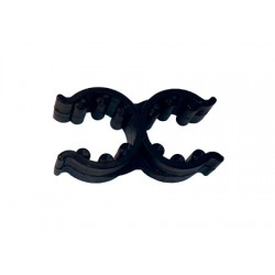 Svarta dubbla clips 18/25mm för fällbara stegar