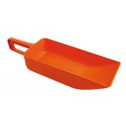 Orange platt fäste med handtag