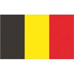 Flagga Belgien 100% polyester 30 X 45 cm